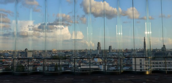 Antwerp, panoramic view from MAS