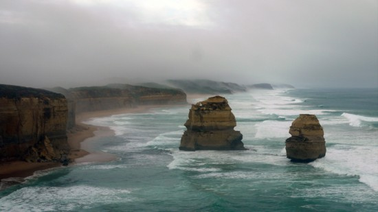 Great Ocean Road, 12 Apostles in mist