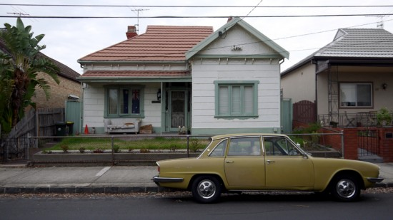 Melbourne, Coburg, house with vintage car