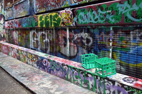 Melbourne, Hosier Lane graffiti