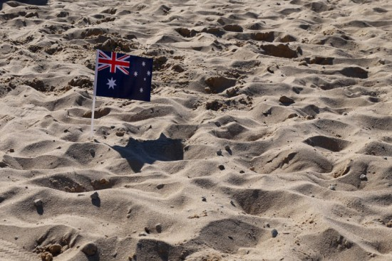 Sydney, Australian flag on Manly beach