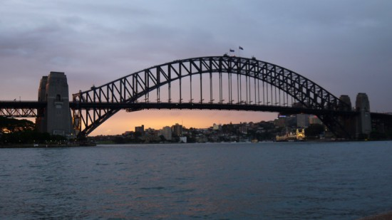 Sydney, Harbour Bridge at twilight