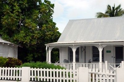 Cayman, white local house