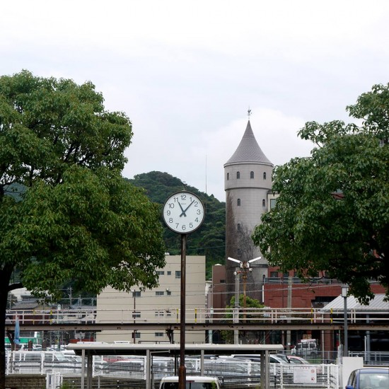 Mojiko, clock and tower