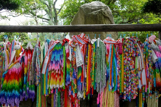 Nagasaki, thousands of origami cranes at Atomic Bomb Memorial