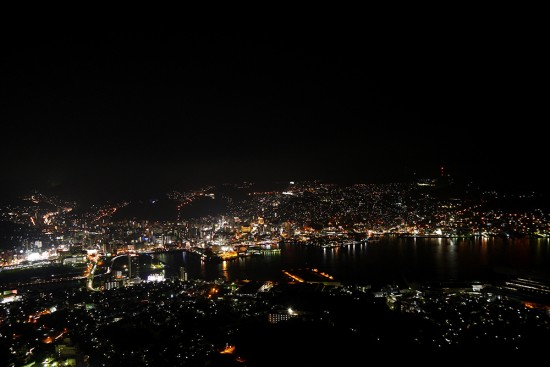 Nagasaki, night view from Inasa Yama