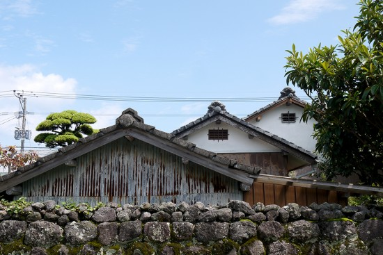 Shimabara roofs of traditional samurai houses