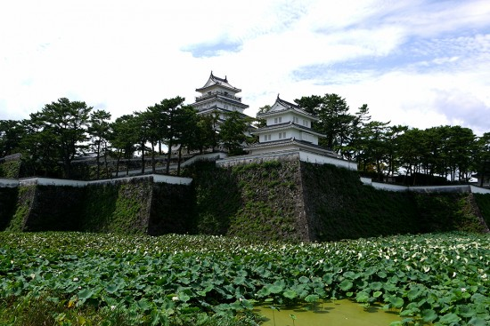 Shimabara, view of Shimabara castle from outside