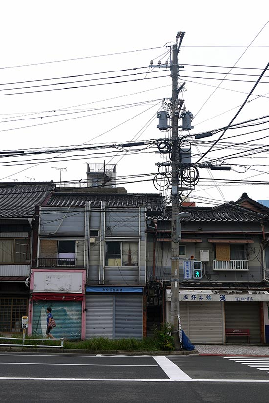Mojiko, electric wires