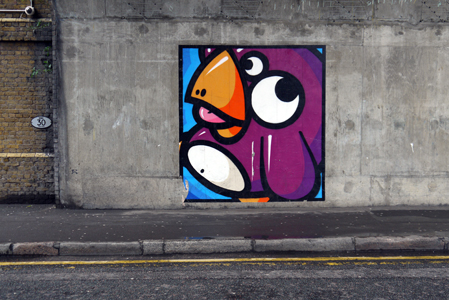 London, Great Suffolk Street, Birdy Kids Street Art