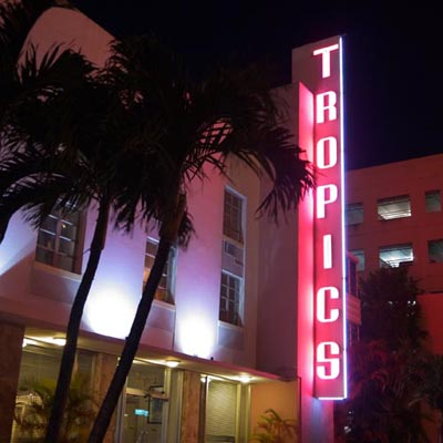 Miami, South Beach, Tropics Hotel