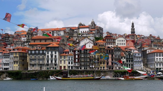 Porto, view of Ribeira and Douro